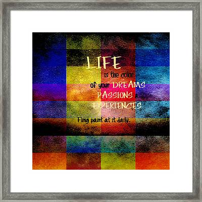 Color Of Life Framed Print