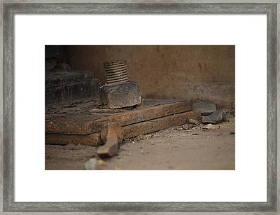 Framed Print featuring the photograph Color Of Steel 1 by Fran Riley