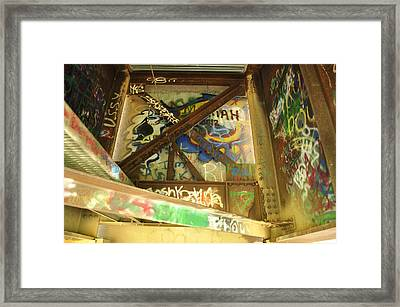 Framed Print featuring the photograph Color Of Steel 8 by Fran Riley