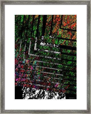 Color Over Black And White Framed Print by Mario Perez