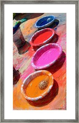 Color Paint Bowls Framed Print by RG McMahon