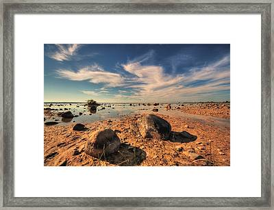 Color Rockscape Framed Print by Coby Cooper