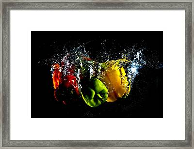 Color Splash Framed Print by Michael Murphy