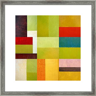 Color Study Abstract 9.0 Framed Print by Michelle Calkins