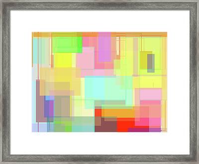 Color Symphony Framed Print by Naomi Jacobs
