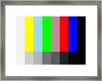 Color Vs Grayscale Framed Print by Saad Hasnain