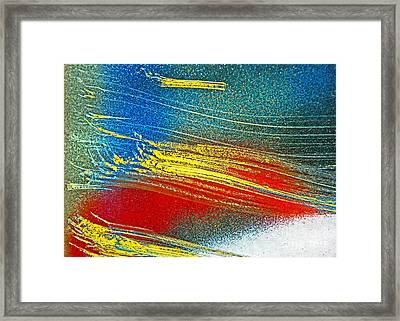 Framed Print featuring the photograph Color Wash by Joan McArthur