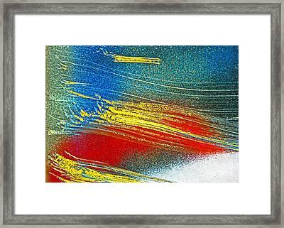 Color Wash Framed Print by Joan McArthur
