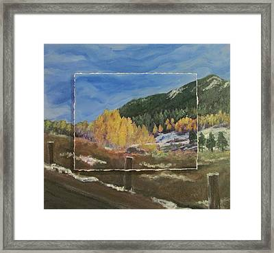 Colorado Almost Winter Framed Print