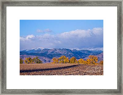 Colorado Autumn Morning Scenic View Framed Print by James BO  Insogna