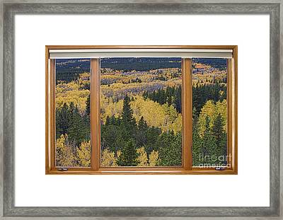 Colorado Autumn Picture Window Frame Art Photos Framed Print by James BO  Insogna
