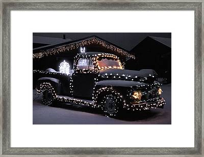 Colorado Christmas Truck Framed Print
