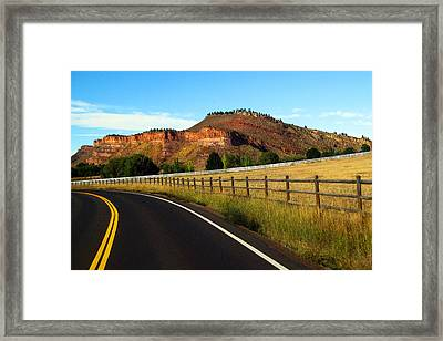 Colorado Curve Framed Print by Ric Soulen