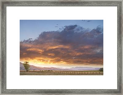 Colorado Evening Light Framed Print by James BO  Insogna