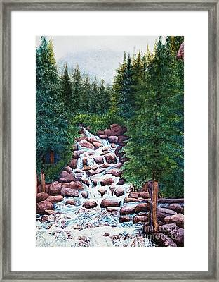 Colorado Falls Framed Print by Vikki Wicks