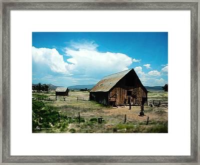 Colorado Farm Framed Print by Melanie Whitaker