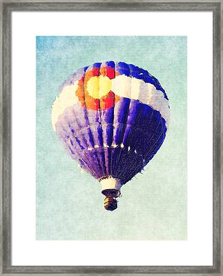 Colorado Flag Hot Air Balloon Framed Print by David G Paul