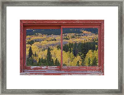 Colorado Red Rustic Picture Window Frame Photo Art Framed Print by James BO  Insogna
