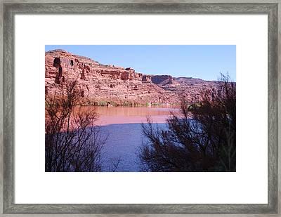 Colorado River After Rain - Utah Framed Print by Dany Lison