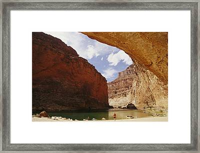 Colorado River Boaters Taking A Break Framed Print by Kate Thompson