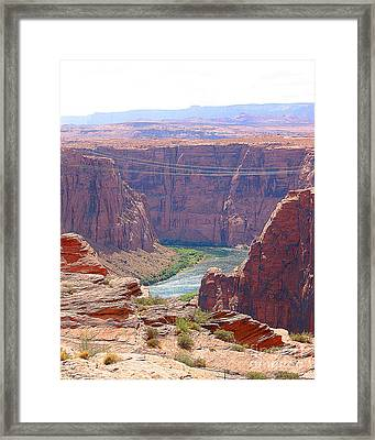 Colorado River In Arizona Framed Print by Merton Allen