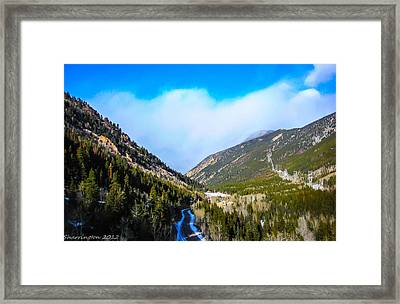 Framed Print featuring the photograph Colorado Road by Shannon Harrington