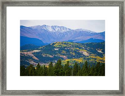 Colorado Rocky Mountain Autumn View Framed Print by James BO  Insogna