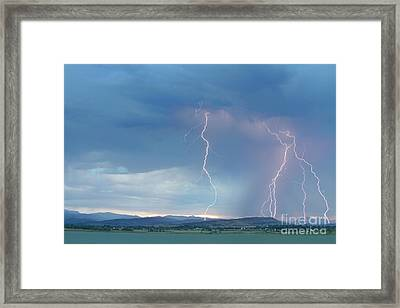 Colorado Rocky Mountains Foothills Lightning Strikes 2 Framed Print