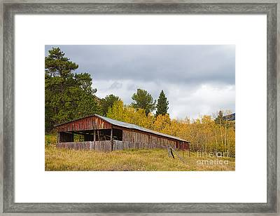 Colorado Rustic Autumn High Country Barn Framed Print