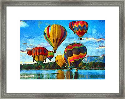 Colorado Springs Hot Air Balloons Framed Print