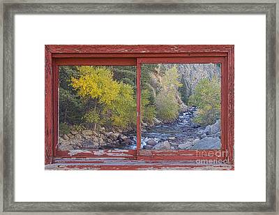 Colorado St Vrain Canyon Red Rustic Picture Window Frame Photos  Framed Print by James BO  Insogna