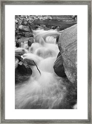 Colorado St Vrain River Trance Bw Framed Print by James BO  Insogna