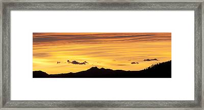 Colorado Sunrise Landscape Framed Print by Beth Riser