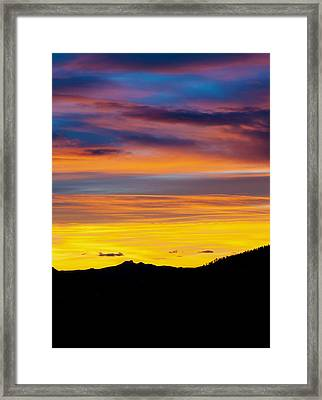 Colorado Sunrise -vertical Framed Print by Beth Riser