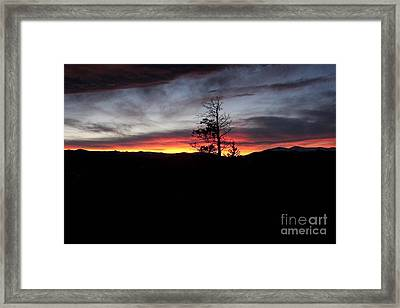 Colorado Sunset Framed Print by Angelique Olin