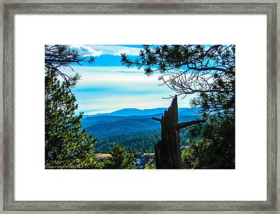 Framed Print featuring the photograph Colorado View by Shannon Harrington