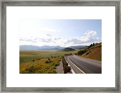 Colorado View Framed Print by Snow  White