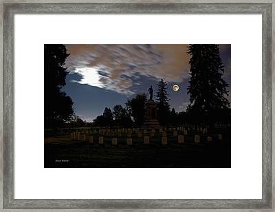 Colorado Volunteers Under The Full Moon Framed Print by Stephen  Johnson