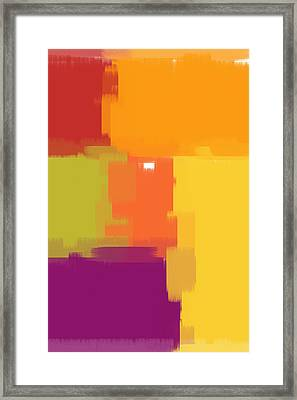 Colorblock Framed Print by Heidi Smith