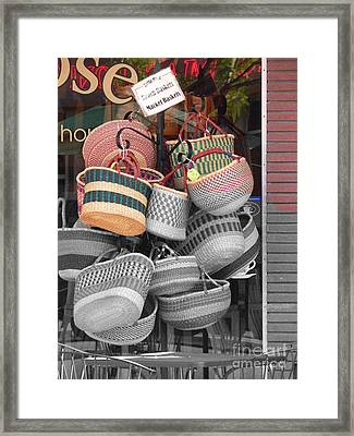 Colored Baskets Framed Print by David Bearden