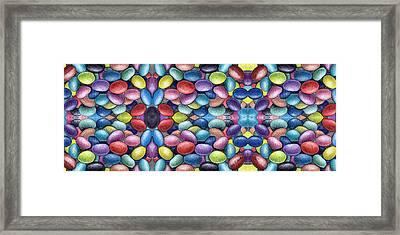 Colored Beans Design Framed Print by Nancy Mueller