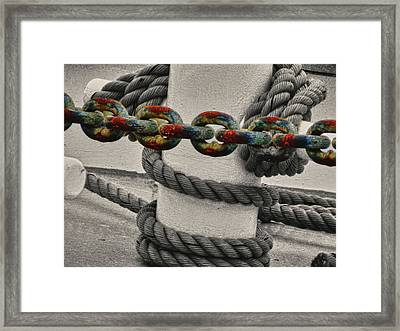 Framed Print featuring the photograph Colored Chain by Kelly Reber