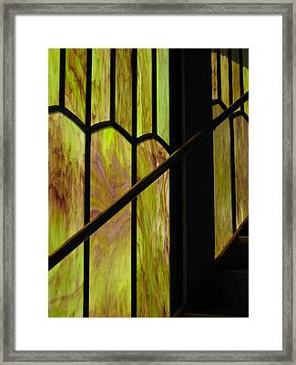Colored Glass Framed Print by Cheryl Perin