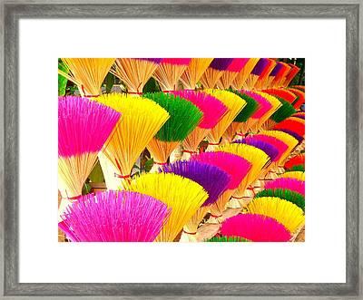 Colored Incense Framed Print by Studio Yuki