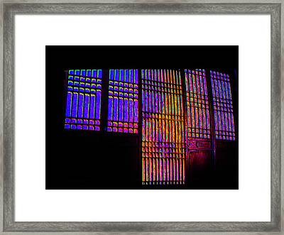 Colored Lines Framed Print