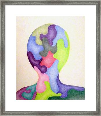 Colored Man Framed Print by Linda Pope