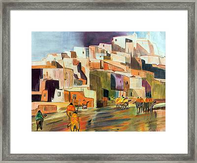 Colored Pencil Rendition Of A B.c. Nowlin Oil Painting Framed Print by The Nothing Machine Ink
