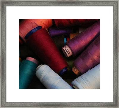 Colored Thread Framed Print by Odd Jeppesen