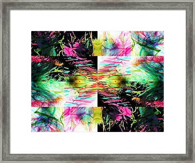 Colored Tubes Framed Print by Sumit Mehndiratta