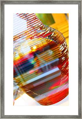 Colored Vase At The Mayo Clinic Framed Print by Laura  Grisham